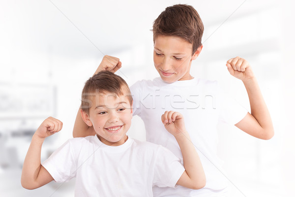 Family portrait, two brothers. Stock photo © NeonShot