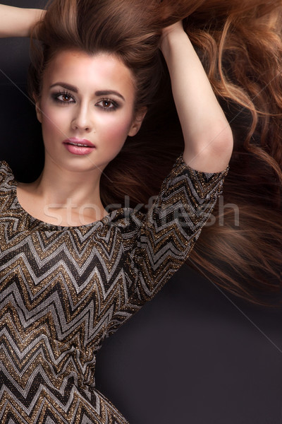 Beauty portrait of girl with long hair. Stock photo © NeonShot