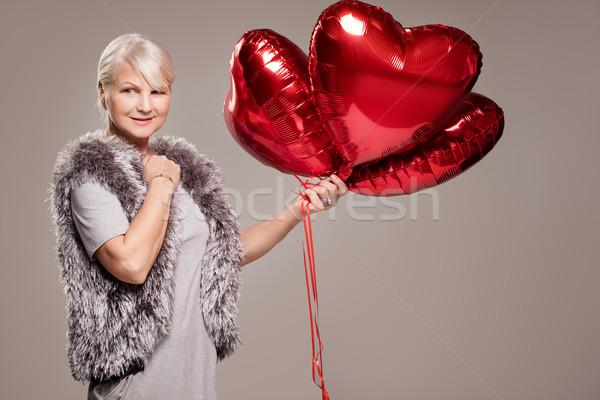 Elegant senior lady, valentine's day. Stock photo © NeonShot