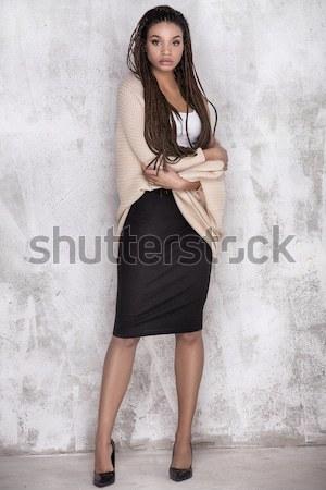 Seksi kız uzun saçlı sihir makyaj seksi Stok fotoğraf © NeonShot