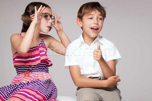 Deux enfants ensemble Photo stock © NeonShot