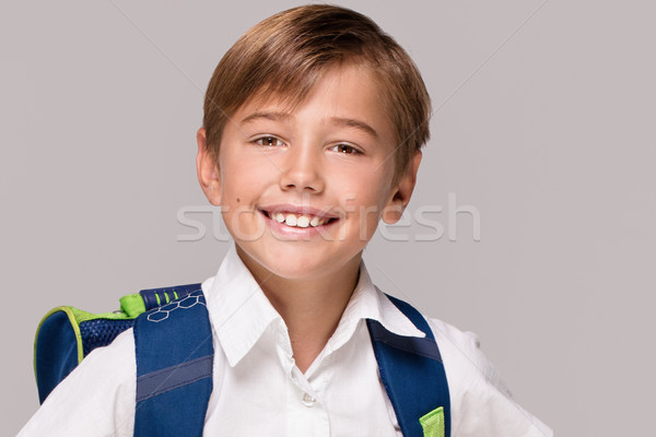 Smiling little boy with backpack. Stock photo © NeonShot