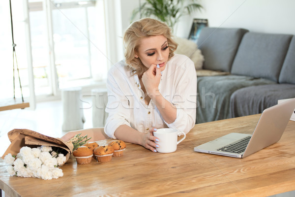 Blonde lady at the morning at home. Stock photo © NeonShot