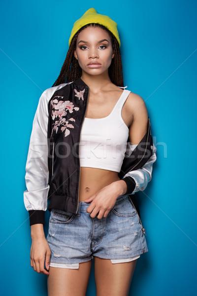 Fashionable african american girl. Stock photo © NeonShot