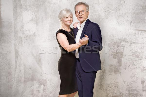 Stock photo: Beautiful senior couple posing.