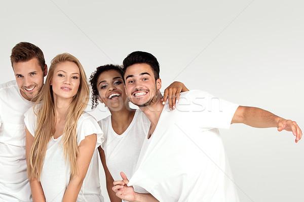 Group of smiling people having fun together. Stock photo © NeonShot