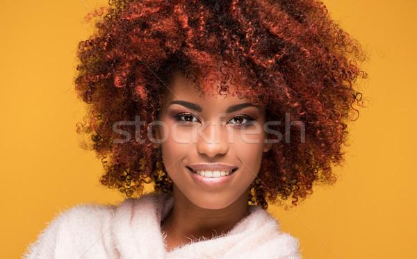 Portrait belle fille afro coiffure jeunes belle Photo stock © NeonShot