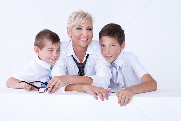 Family portrait, mother with sons. Stock photo © NeonShot