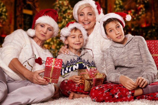Stock photo: Christmas time. Happy family.