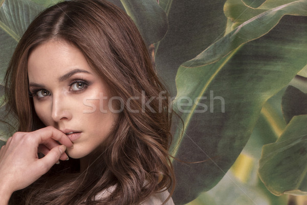 Beauty portrait of natural young woman. Stock photo © NeonShot