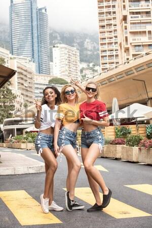 Happy girls having fun in Monte Carlo, summer time. Stock photo © NeonShot