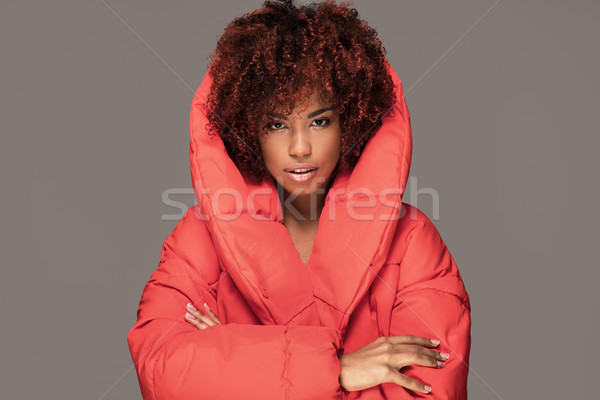 Fashion portrait of african american girl. Stock photo © NeonShot