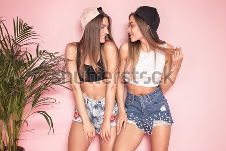 Happy time together, three girls posing. Stock photo © NeonShot