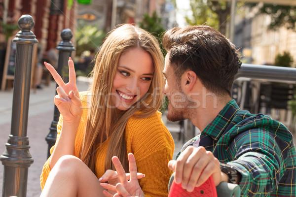 счастливым пару вместе фото молодые Сток-фото © NeonShot