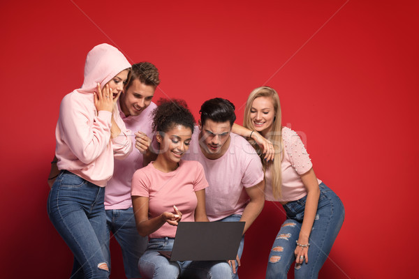 Multiracial young creative people working together. Stock photo © NeonShot