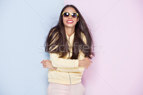 Young african american girl smiling. Stock photo © NeonShot