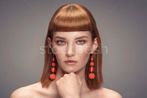 красивой девушки гламур макияж красоту Сток-фото © NeonShot