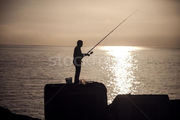 Man fishing at the morning. Stock photo © NeonShot