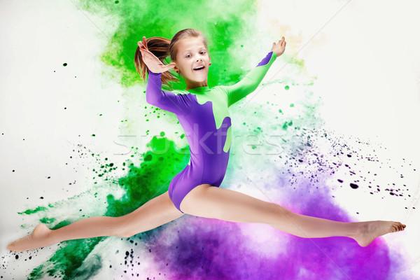 幸せ 少女 美しい スタジオ スポーツ ストックフォト © NeonShot