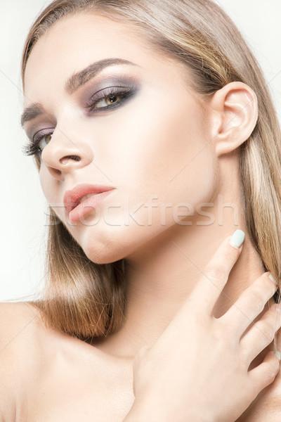 красоту портрет природного женщины модель гламур Сток-фото © NeonShot