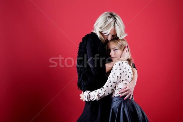 Portre gülen anne kız fotoğraf Stok fotoğraf © NeonShot