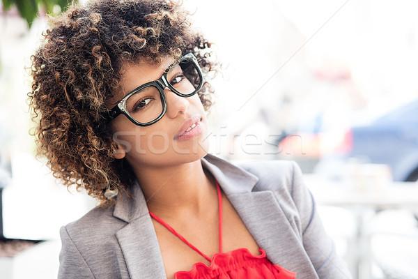 肖像 小さな アフリカ エレガントな 女性実業家 美しい ストックフォト © NeonShot
