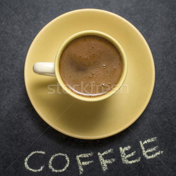 кофе пить Кубок свежие кофейный столик Сток-фото © nessokv