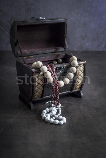 Antiguos grabado joyas cuadro forma Foto stock © nessokv