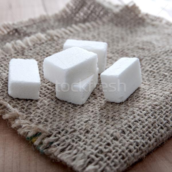 Terrones de azúcar mesa foto blanco azúcar Foto stock © nessokv