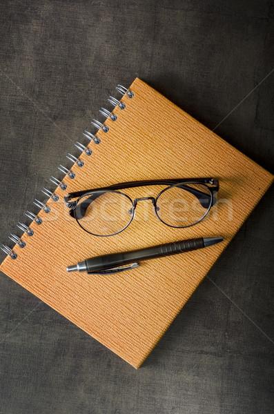事務用品 眼鏡 ビジネス 紙 作業 ストックフォト © nessokv