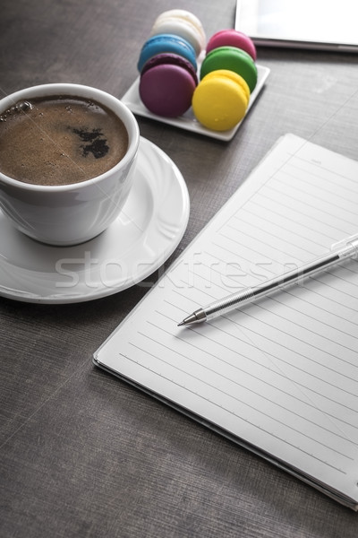 Copo café colorido caneta espaço beber Foto stock © nessokv