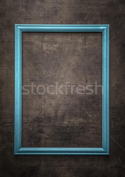 Blu cornice vecchio legno muro Foto d'archivio © nessokv