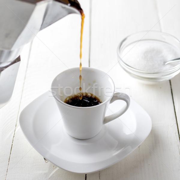 банка кофе кухне кирпичных Сток-фото © nessokv