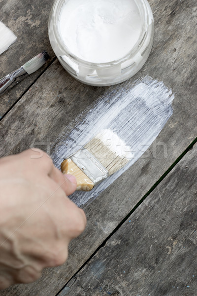 ブラシ 絵画 木製 家具 芸術 ストックフォト © nessokv
