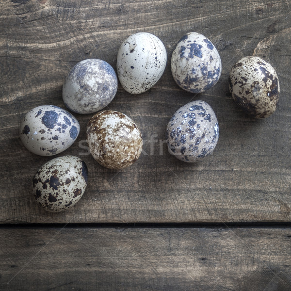 Quail eggs on the table Stock photo © nessokv