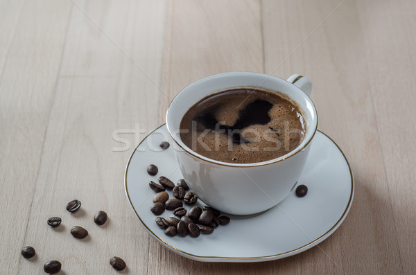 Close up  of a freshly brewed mug of black coffee  Stock photo © nessokv