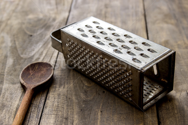 Stock photo: natural aged old rusted grater