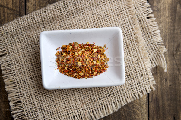 ground cayenne pepper in bowl Stock photo © nessokv