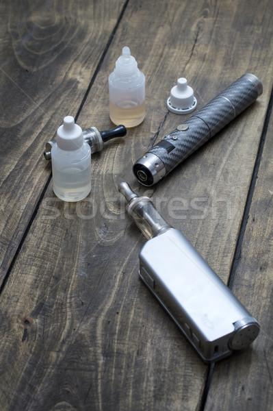 Zaawansowany urządzenie tabeli przemysłu stali palenia Zdjęcia stock © nessokv