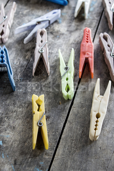 Clothespins on the table Stock photo © nessokv