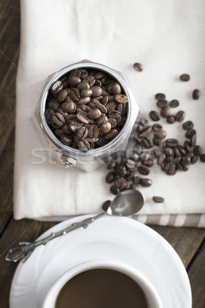 итальянский кофеварка банка кофе кофе Сток-фото © nessokv