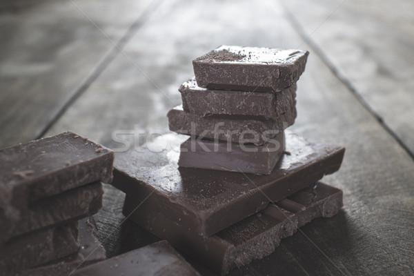 Cioccolato piazze sani rosolare Foto d'archivio © nessokv