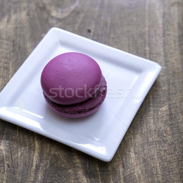 Francia macaron fa asztal kép hagyományos Stock fotó © nessokv