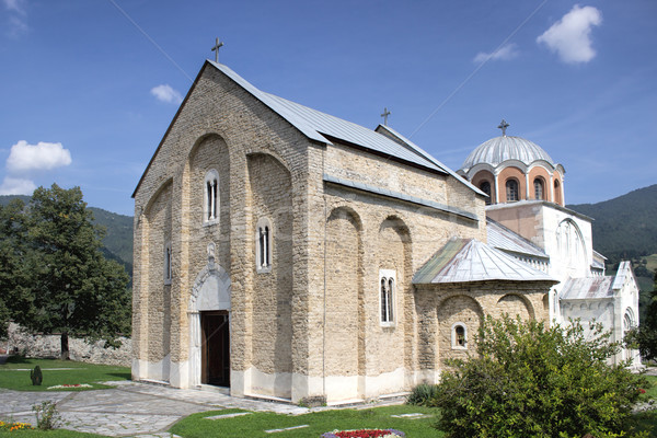Serbian orthodox monastery Studenica Stock photo © nessokv