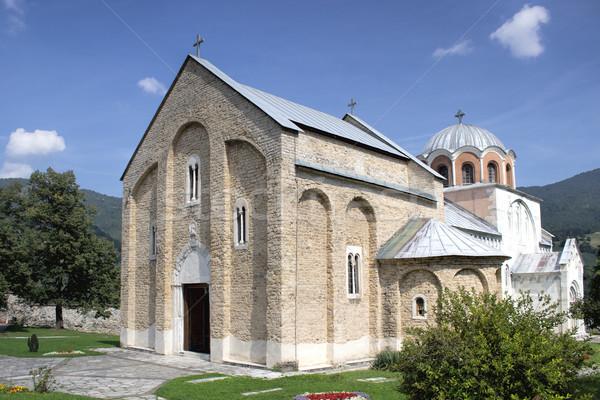 Ortodossa monastero meridionale ovest view principale Foto d'archivio © nessokv