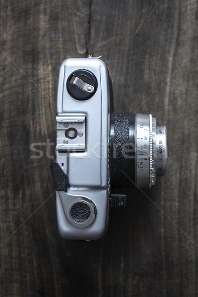 Top view of old rangefinder camera Stock photo © nessokv