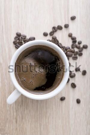Tazza di caffè chicchi di caffè legno legno Foto d'archivio © nessokv