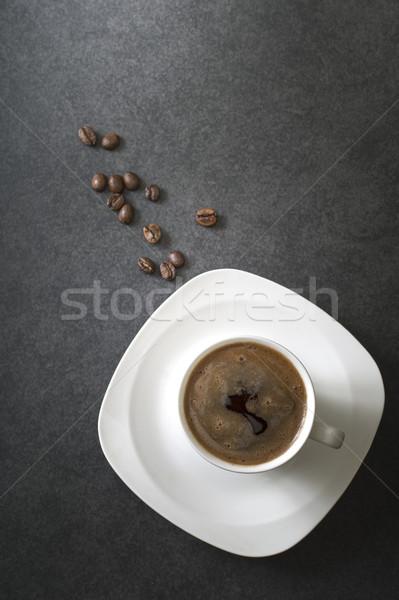 Tasse tasse de café café grains de café rustique still life Photo stock © nessokv
