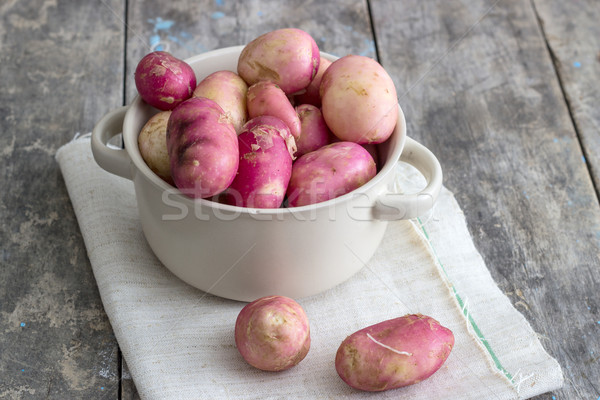 organic potatoes Stock photo © nessokv