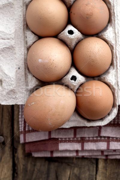 Farm Fresh Brown Chicken Hen Eggs Stock photo © nessokv